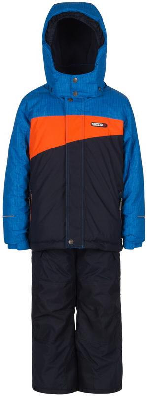 Комплект верхней одежды для мальчика Gusti, цвет: синий, голубой, оранженвый. GWB 3304-BRILLIANT BLUE. Размер 96GWB 3304-BRILLIANT BLUEКомплект Gusti состоит из куртки и полукомбинезона. Ткань верха: мембрана с коэффициентом водонепроницаемости 5000 мм и коэффициентом паропроницаемости 5000 г/м2, одежда ветронепродуваемая. Благодаря тонкому полиуретановому напылению изнутри не промокает даже при сильной влаге, но при этом дышит (защита от влаги не препятствует циркуляции воздуха). Плотность ткани Т190 обеспечивает высокую износостойкость. Утеплитель: тек-Полифилл (Tech-Polyfil) - 280г/м2, силиконизированый полиэстер изготовленный по новейшим технологиям, удерживает тепло при температуре до -30 С. Очень мягкий, создающий объем для сохранения тепла. Высокоэффективный, обладающий повышенной устойчивостью к сжатию (после стирки в стиральной машине изделие достаточно встряхнуть), обеспечивающий хорошую вентиляцию, обладающий прекрасным, теплоизолирующими свойствами синтетический материал. Главные преимущества Тек-Полифила – одежда более пушистая на ощупь и менее тяжелое по весу. Подкладка: высокотехнологичный флис COOLQUICK. Специальное кручение нитей позволяет ткани максимально впитывать влагу и увеличивать испаряемость с поверхности, т.е. выпустить пар, но не пропускает влагу снаружи, что обеспечивает комфорт даже при высоких физических нагрузках. Этот материал ранее был разработан специально для спортсменов, которые испытывали сильные нагрузки во время активного движения, а теперь принес комфорт и тепло в нашу повседневную жизнь. Это особенно важно для детей, когда они гуляют на свежем воздухе, чтобы тело всегда оставалось сухим и теплым. В этой одежде им будет тепло в течение длительного времени и нет необходимости надевать теплый свитер. Верхняя одежда GUSTI просто чистится. Стирать одежду придется очень редко – только при сильных загрязнениях. Если малыш забрался в лужу или грязь, просто вытрите пятно влажной тряпкой.