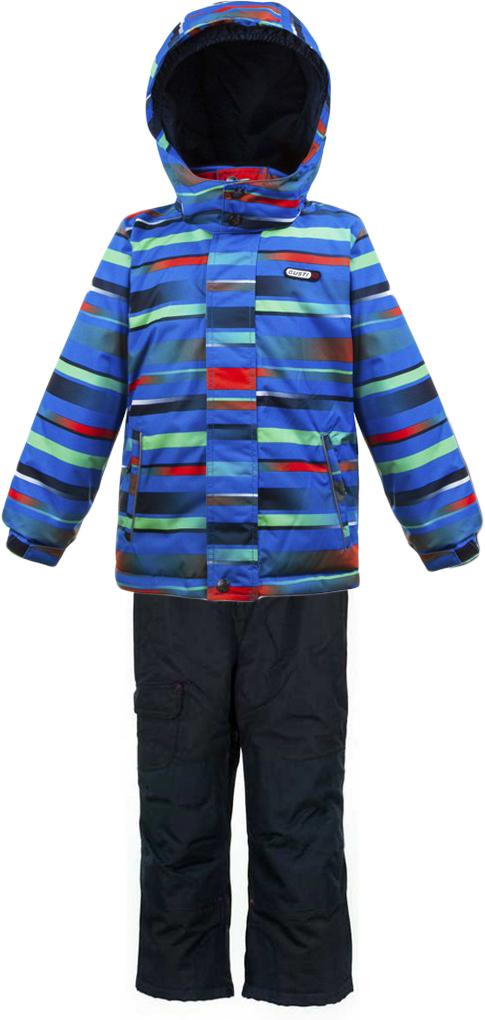 Комплект верхней одежды для мальчика Gusti, цвет: синий. GWB 3309-ELECTRIC BLUE. Размер 150GWB 3309-ELECTRIC BLUEКомплект Gusti состоит из куртки и полукомбинезона. Ткань верха: мембрана с коэффициентом водонепроницаемости 5000 мм и коэффициентом паропроницаемости 5000 г/м2, одежда ветронепродуваемая. Благодаря тонкому полиуретановому напылению изнутри не промокает даже при сильной влаге, но при этом дышит (защита от влаги не препятствует циркуляции воздуха). Плотность ткани Т190 обеспечивает высокую износостойкость. Утеплитель: тек-Полифилл (Tech-Polyfil) - 280г/м2, силиконизированый полиэстер изготовленный по новейшим технологиям, удерживает тепло при температуре до -30 С. Очень мягкий, создающий объем для сохранения тепла. Высокоэффективный, обладающий повышенной устойчивостью к сжатию (после стирки в стиральной машине изделие достаточно встряхнуть), обеспечивающий хорошую вентиляцию, обладающий прекрасным, теплоизолирующими свойствами синтетический материал. Главные преимущества Тек-Полифила – одежда более пушистая на ощупь и менее тяжелое по весу. Подкладка: высокотехнологичный флис COOLQUICK. Специальное кручение нитей позволяет ткани максимально впитывать влагу и увеличивать испаряемость с поверхности, т.е. выпустить пар, но не пропускает влагу снаружи, что обеспечивает комфорт даже при высоких физических нагрузках. Этот материал ранее был разработан специально для спортсменов, которые испытывали сильные нагрузки во время активного движения, а теперь принес комфорт и тепло в нашу повседневную жизнь. Это особенно важно для детей, когда они гуляют на свежем воздухе, чтобы тело всегда оставалось сухим и теплым. В этой одежде им будет тепло в течение длительного времени и нет необходимости надевать теплый свитер. Верхняя одежда GUSTI просто чистится. Стирать одежду придется очень редко – только при сильных загрязнениях. Если малыш забрался в лужу или грязь, просто вытрите пятно влажной тряпкой.