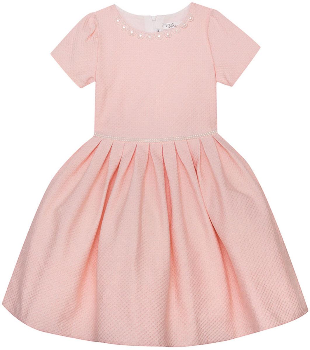 Платье для девочки Vitacci, цвет: розовый. 2171402-11. Размер 1302171402-11