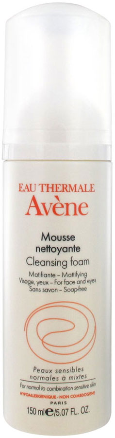 Avene Пенка очищающая для лица и области вокруг глаз, 50 мл нежный скраб для лица 50 мл avene