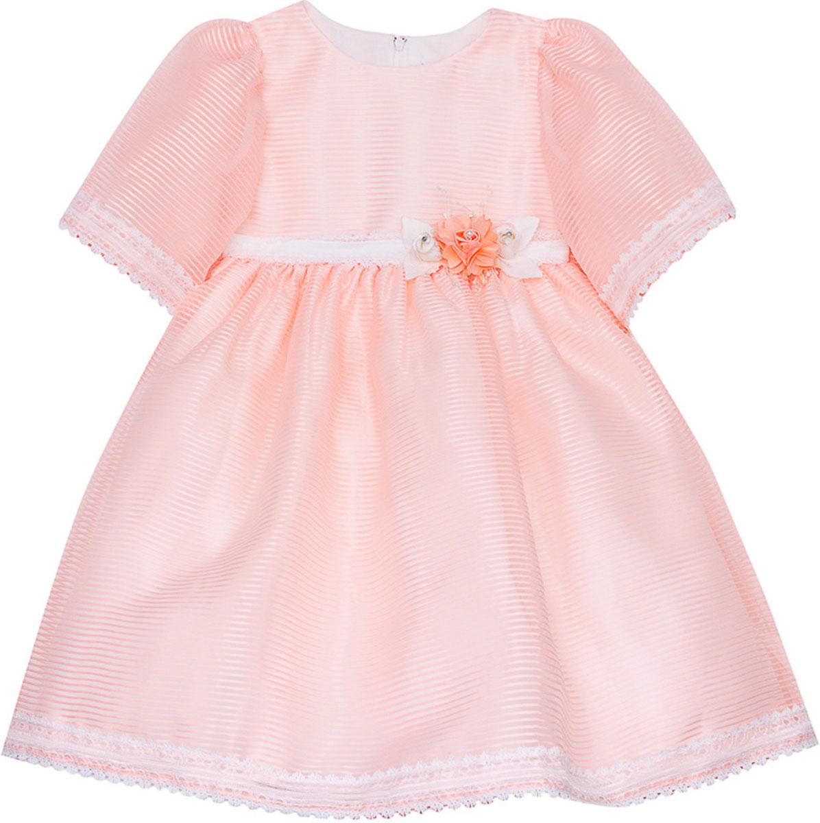 Платье для девочки Vitacci, цвет: розовый. 2171407-11. Размер 802171407-11