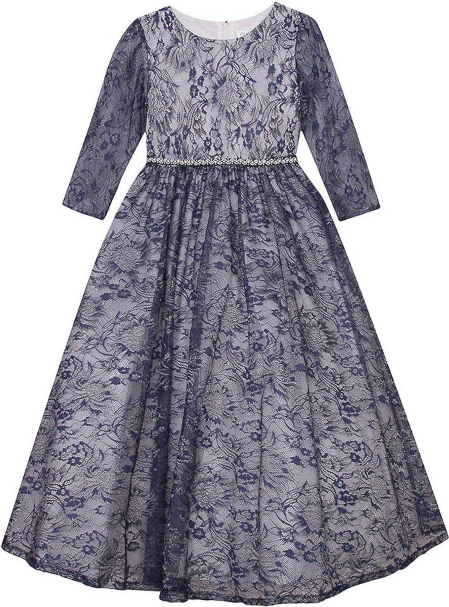 Платье для девочки Vitacci, цвет: синий. 2171399-04. Размер 1302171399-04