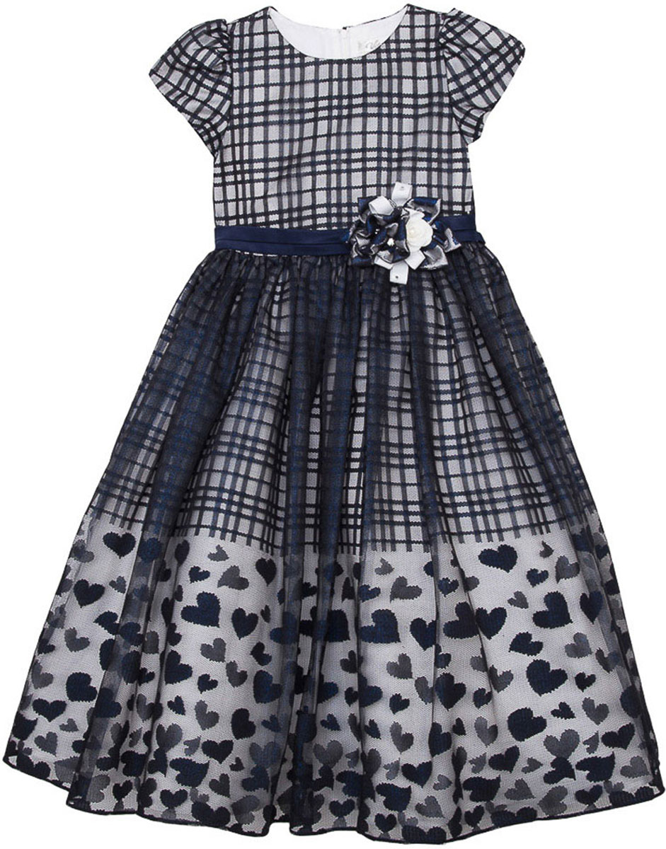 Платье для девочки Vitacci, цвет: синий. 2171401-04. Размер 1402171401-04