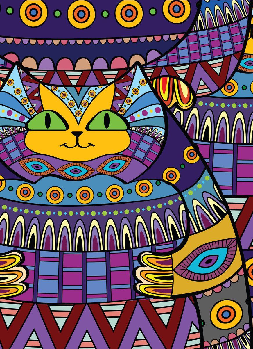Блокнот Кот-Зендудл 80 листов цвет фиолетовый формат А602-1023Блокнот А6 спираль 80л.Кот-зендудл БП6-80-5
