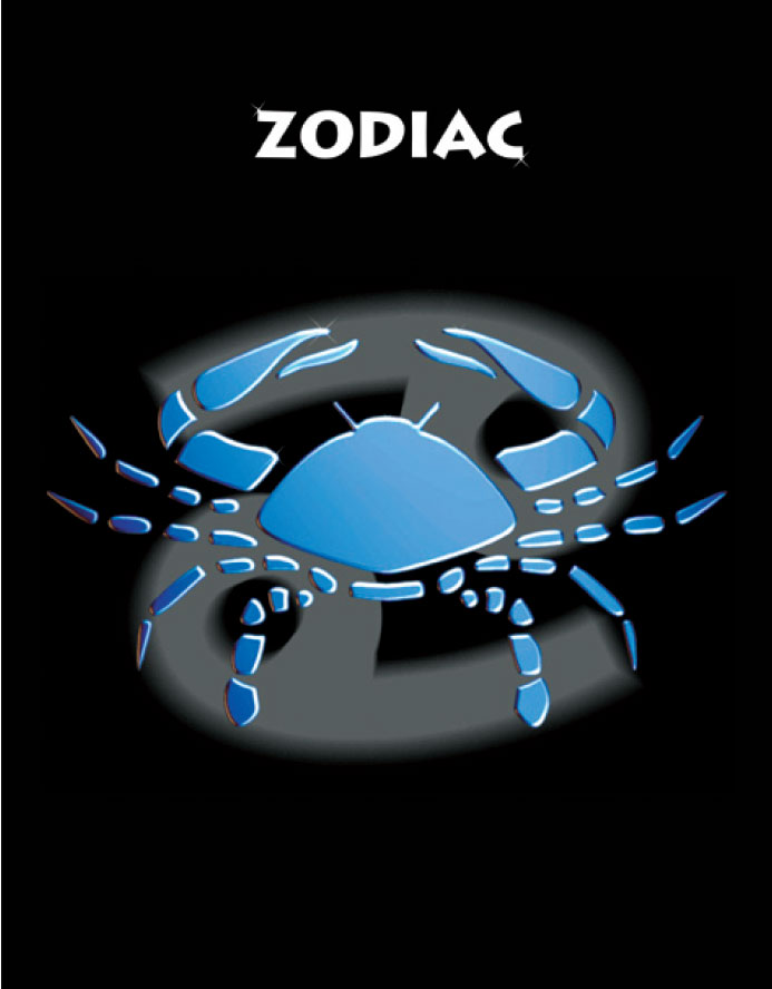 Тетрадь Зодиак Рак цвет черный06-2104Тетрадь 96 л. кл. Зодиак Рак ЗПР-96-2