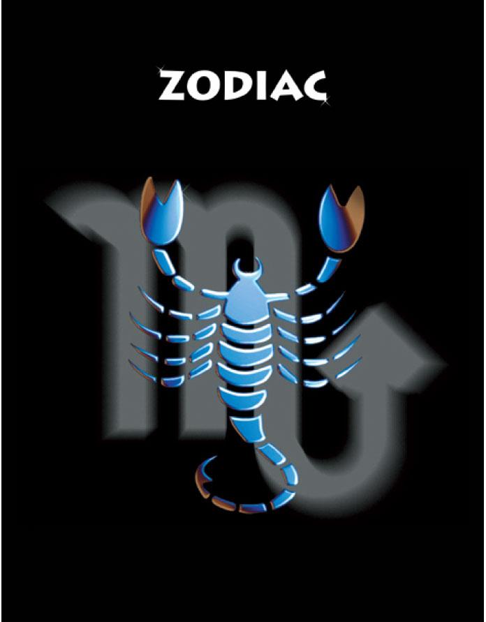 Тетрадь Зодиак Скорпион цвет черный06-2108Тетрадь 96 л. кл. Зодиак Скорпион ЗПР-96-3
