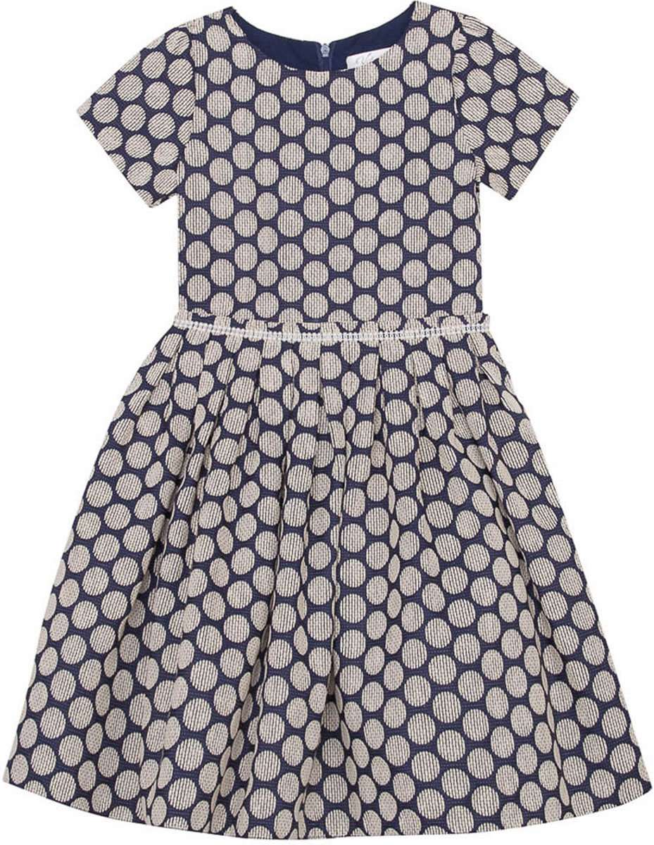 Платье для девочки Vitacci, цвет: синий. 2171412-04. Размер 1402171412-04