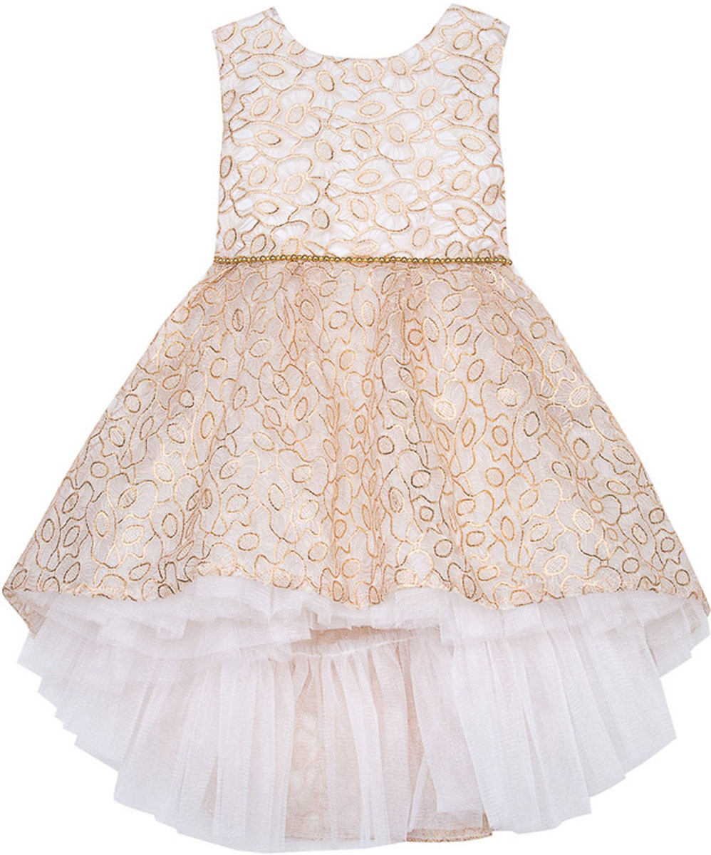 Платье для девочки Vitacci, цвет: слоновая кость. 2171408-25. Размер 1002171408-25