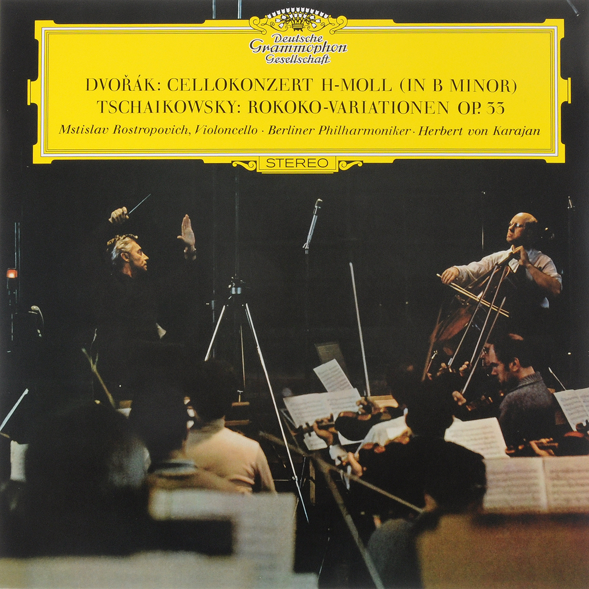 Karajan, Herbert von Dvorak: Cello Concerto / Tchaikovsky: Variations On A Rococo Theme (LP)