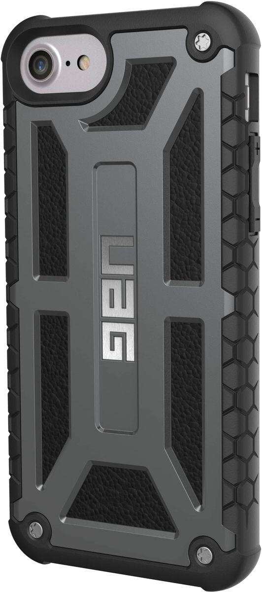UAG Monarch чехол для Apple iPhone 8/7/6s Plus, Dark GrayIPH8/7PLS-M-GRСовременный дизайн изделий отлично подходит к различным стилям в одежде: спортивный, повседневный, милитари и другие. Эти аксессуары повышенной прочности подходят как для обычной жизни, так для условий, требующих дополнительной защиты ваших устройств (спорт, строительство, узкопрофессиональная сфера деятельности).