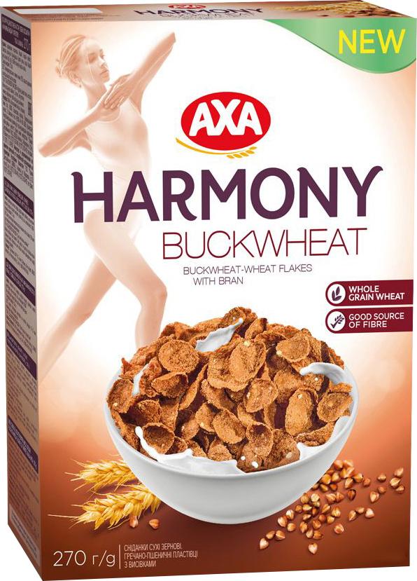 AXA Beauty menu хлопья гречнево-пшеничные с отрубями, 270 г