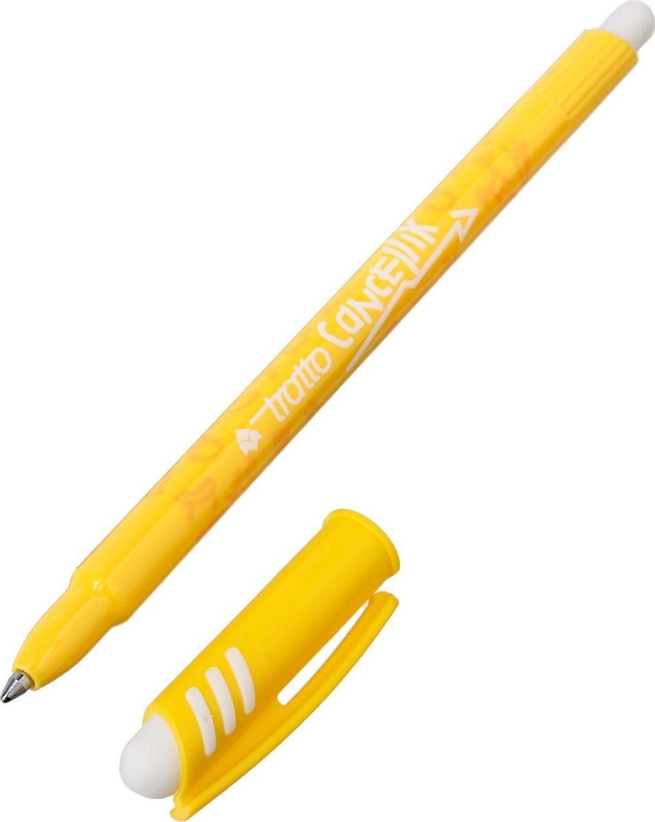 Tratto Ручка шариковая Ftratto Cancellik цвет чернил желтый2813492Шариковая ручка с колпачком станет незаменимым атрибутом для учебы или работы. Высококачественные чернилапозволяют добиться идеальной плавности письма. Игловидный пишущий узел отработан до совершенства.