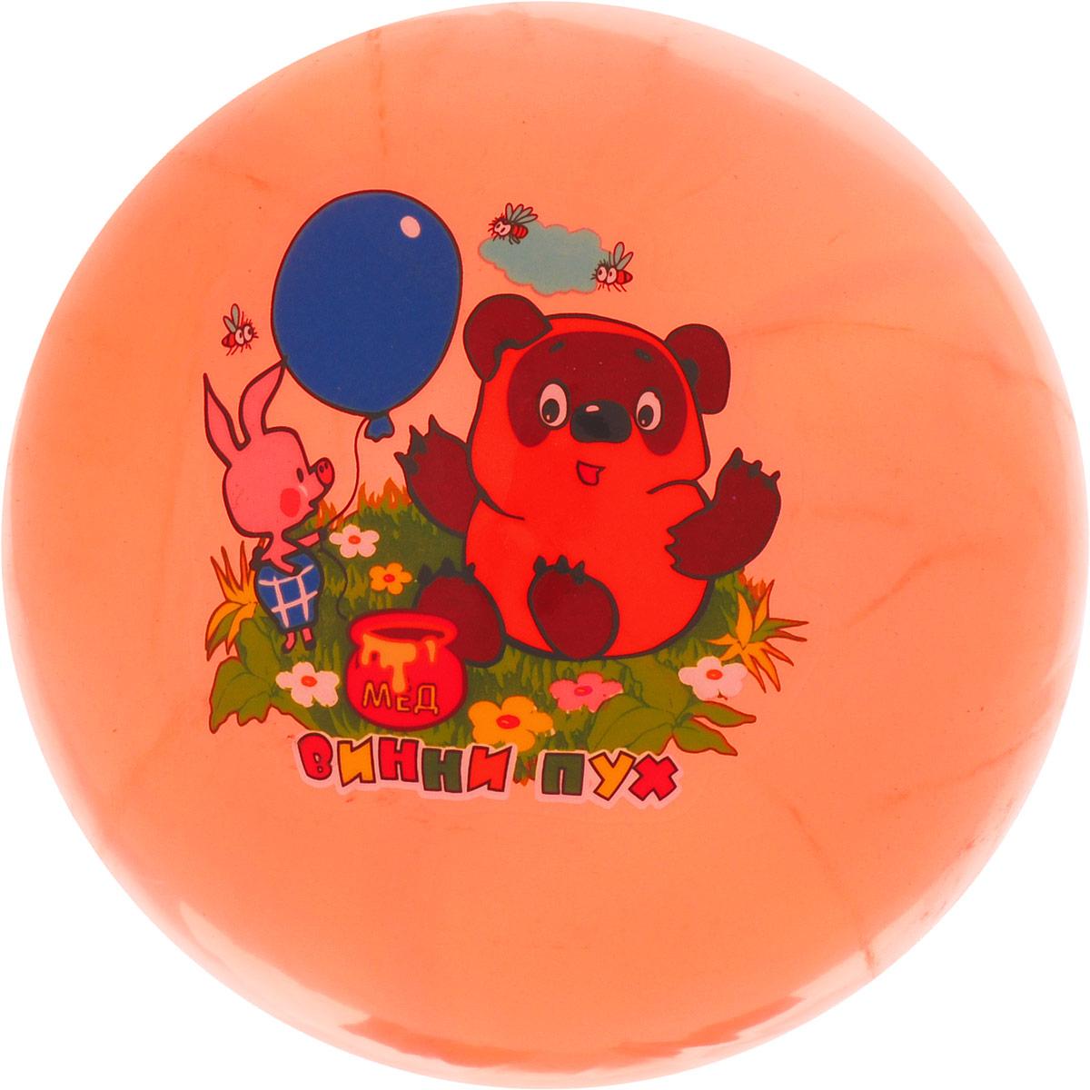 Играем вместе Мяч Винни-Пух цвет оранжевый 23 см