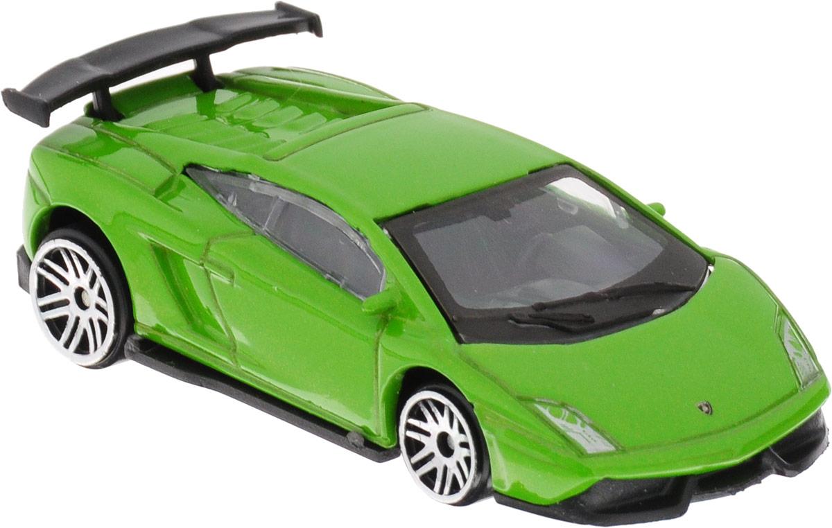 ТехноПарк Модель автомобиля Lamborghini LP-570 цвет зеленый технопарк машинка инерционная lamborghini gallardo цвет фиолетовый