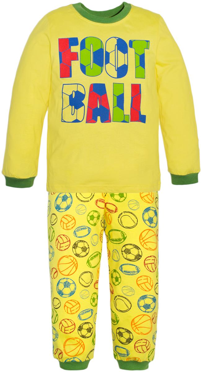 Пижама для мальчиков Lets Go, цвет: желтый. 9224. Размер 98/1049224