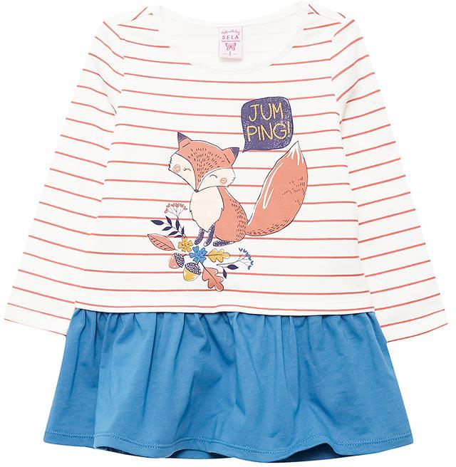 Платье для девочки Sela, цвет: молочный. DK-517/398-7432. Размер 116DK-517/398-7432