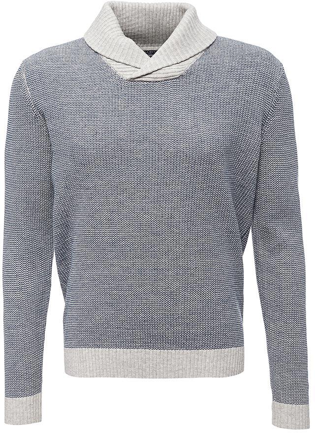 Джемпер мужской Sela, цвет: светло-серый меланж. JR-214/134-7423. Размер M (48)JR-214/134-7423
