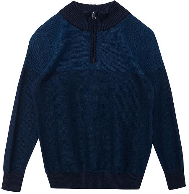 Джемпер для мальчика Sela, цвет: темно-синий. JR-814/294-7413. Размер 152JR-814/294-7413