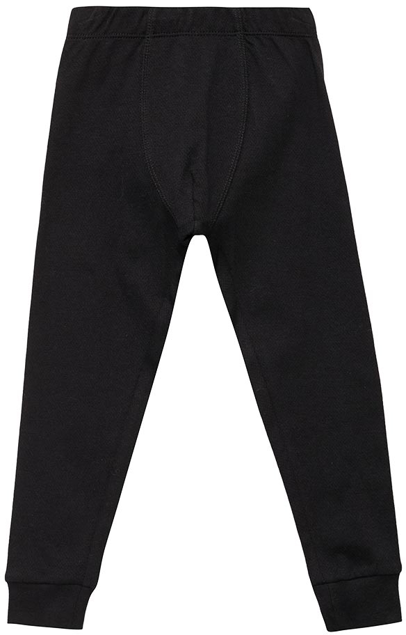 Термобелье брюки для мальчика Sela, цвет: черный. LPUb-7855/007-7412. Размер 104/110LPUb-7855/007-7412Термобрюки для мальчика от Sela выполнены из хлопкового трикотажа. Модель с эластичной резинкой на талии, низ брючин на манжетах.