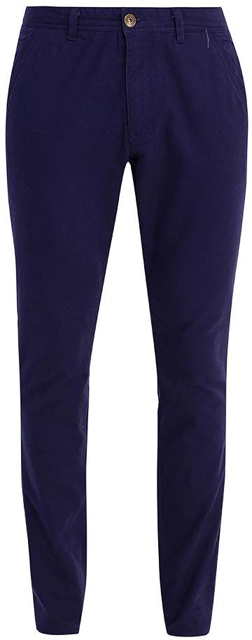 Брюки мужские Sela, цвет: синий опал. P-215/124-7423. Размер 52P-215/124-7423Стильные мужские брюки-слим от Sela выполнены из хлопкового материала. Модель зауженного кроя в поясе застегивается на пуговицу и ширинку на молнии, имеются шлевки для ремня. Спереди брюки дополнены втачными карманами, сзади – накладными карманами.