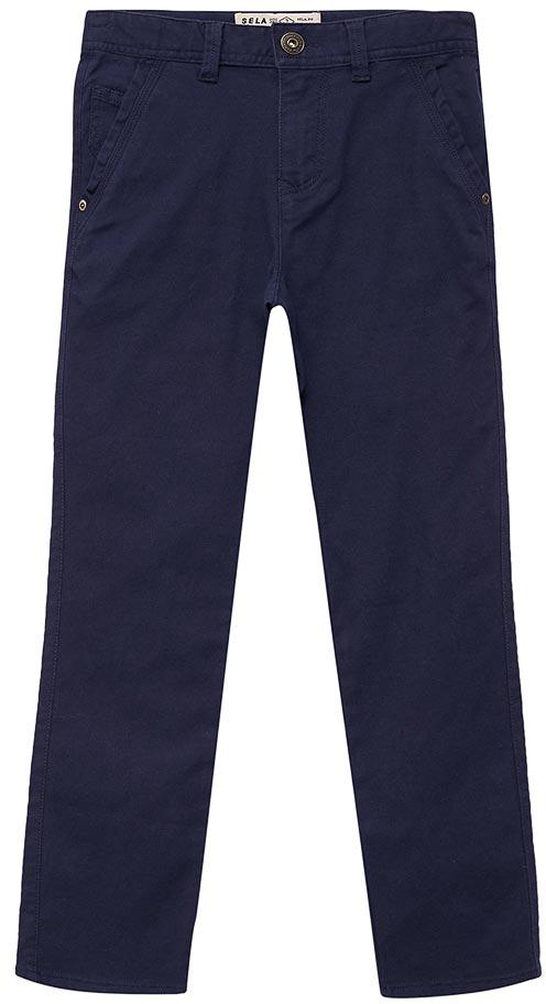 Брюки для мальчика Sela, цвет: синий опал. P-815/034-7413. Размер 140P-815/034-7413