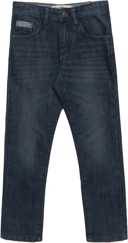 Джинсы для мальчика Sela, цвет: темно-синий джинс. PJ-835/028-7442. Размер 146PJ-835/028-7442Джинсы для мальчика от Sela выполнены из хлопкового денима. Модель прямого кроя в поясе застегивается на пуговицу и ширинку на молнии, имеются шлевки для ремня. Джинсы имеют классический пятикарманный крой.