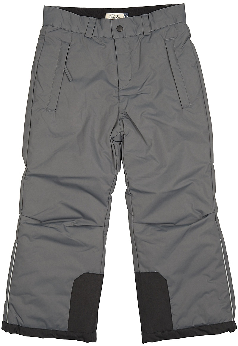 Брюки утепленные для мальчика Sela, цвет: темно-серый. Ppc-825/285-7462. Размер 152Ppc-825/285-7462Утепленные брюки для мальчика от Sela выполнены из плащевки. Модель прямого кроя в талии застегивается на кнопку и ширинку на молнии, имеются шлевки для ремня. По бокам брюки имеют втачные карманы на молниях. Штанины по низу дополнены усиленными вставками.