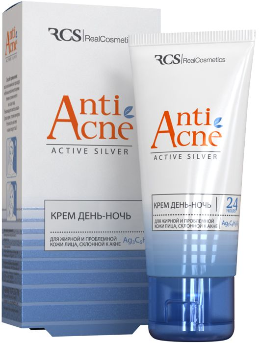 RCS Крем день-ночь для жирной и проблемной кожи лица, склонной к акне, 40 мл4650070510020Устраняет излишнюю жирность кожи, предотвращает возникновение прыщей и черных точек. Оказывает антибактериальное и противоспалительное действие, увлажняет, восстанавливает защитный барьер кожи, тем самым предупреждая развитие заболевания. Комплекс активов натурального происхождения (ниацинамид, фитосфингозин, бисаболол, цитрат серебра, производные молочной и салициловой кислоты, экстракты коры коричневого дерева). Крем подходит также для чувствительной кожи, склонной к акне. Легкая текстура приятна для кожи, легко впитывается, не образует жирной пленки. Способ применения: после гигиенических процедур небольшое количество крема тонким слоем нанести на кожу лица. Рекомендуется использовать 2 раза в день: утром и вечером. Не наносить на веки и кожу вокруг глаз.