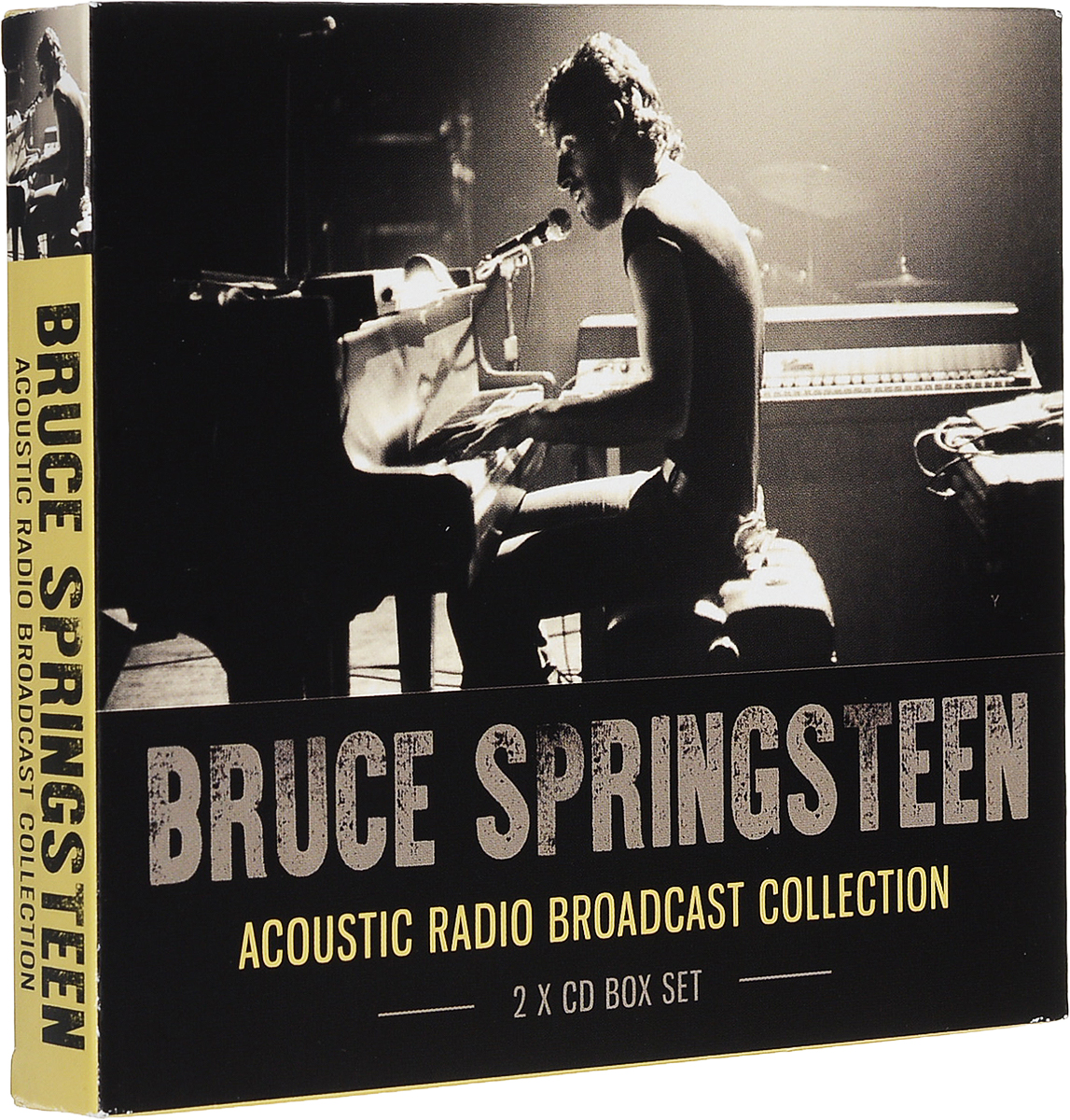 Брюс Спрингстин Bruce Springsteen. Acoustic Radio Broadcast Collection (2 CD) лента brother tze651 24мм черный шрифт желтый фон 8м