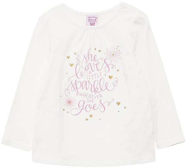 Джемпер для девочки Sela, цвет: молочный. T-511/442-7433. Размер 92T-511/442-7433
