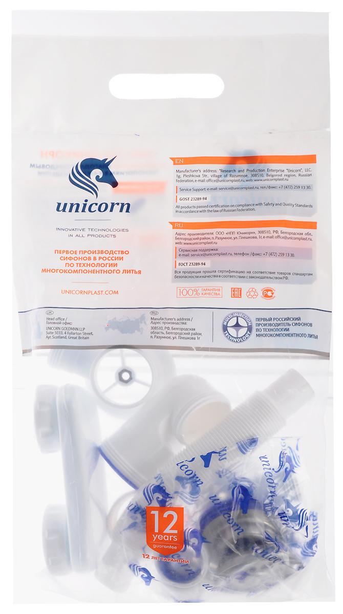Сифон для ванны Unicorn, регулируемый, 1.1/2х40. S15ИС.110321Сифон для ванны и глубокого поддона Unicorn изготовлен по технологии многокомпонентного литья Multi-Injection, которая обеспечивает абсолютную герметичность и полную защиту от протекания. Корпус выполнен из высокопрочного пластика. Одновременная отливка в одном изделии уплотнителей и корпуса. Система Quick Fit обеспечивает сверхбыструю сборку и установку, а также долговечное использование. Уплотнители уже интегрированы в корпус, что исключает неправильное соединение частей сифона и потерю уплотнителей. Резьба: НН наружная-наружная. Особенности: - с переливом, - с винтами 6х40,- с нержавеющими чашками,- с пробкой и цепочкой,- с гибким отводом в канализацию диаметр 40 х 40/50 400 мм.