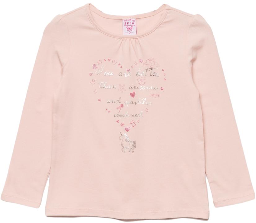 Джемпер для девочки Sela, цвет: светлый персик. T-511/442-7433. Размер 110T-511/442-7433