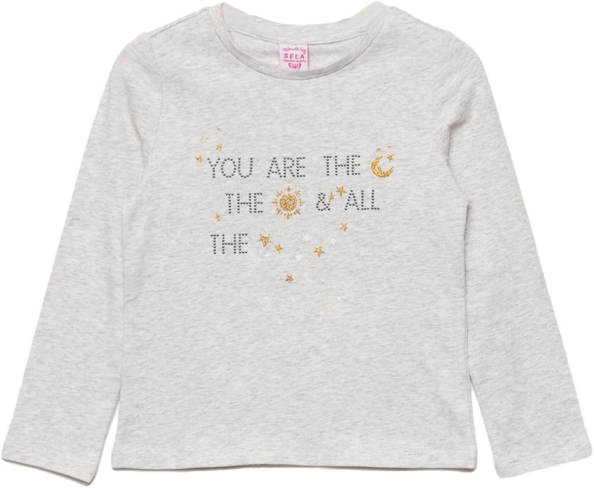 Джемпер для девочки Sela, цвет: светло-серый меланж. T-511/443-7433. Размер 98T-511/443-7433