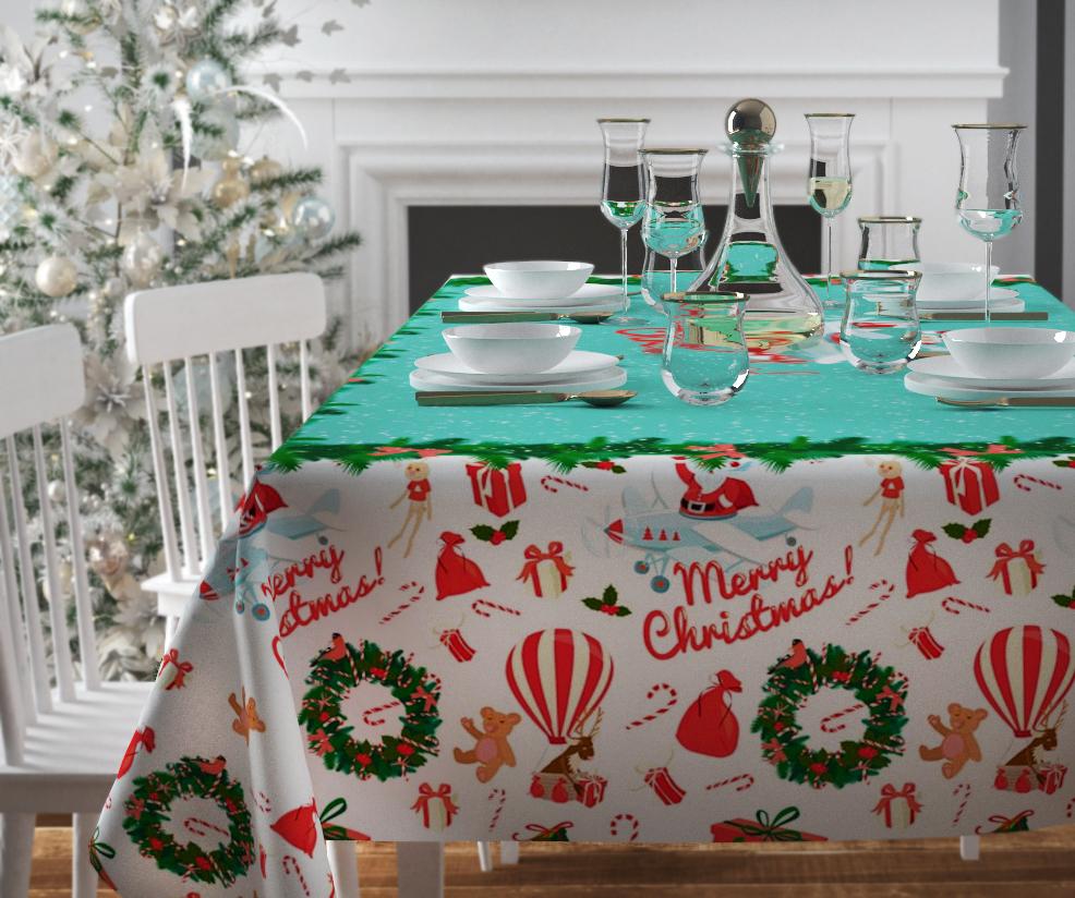 Скатерть Сирень Рождество приходит, прямоугольная, 145 х 220 см