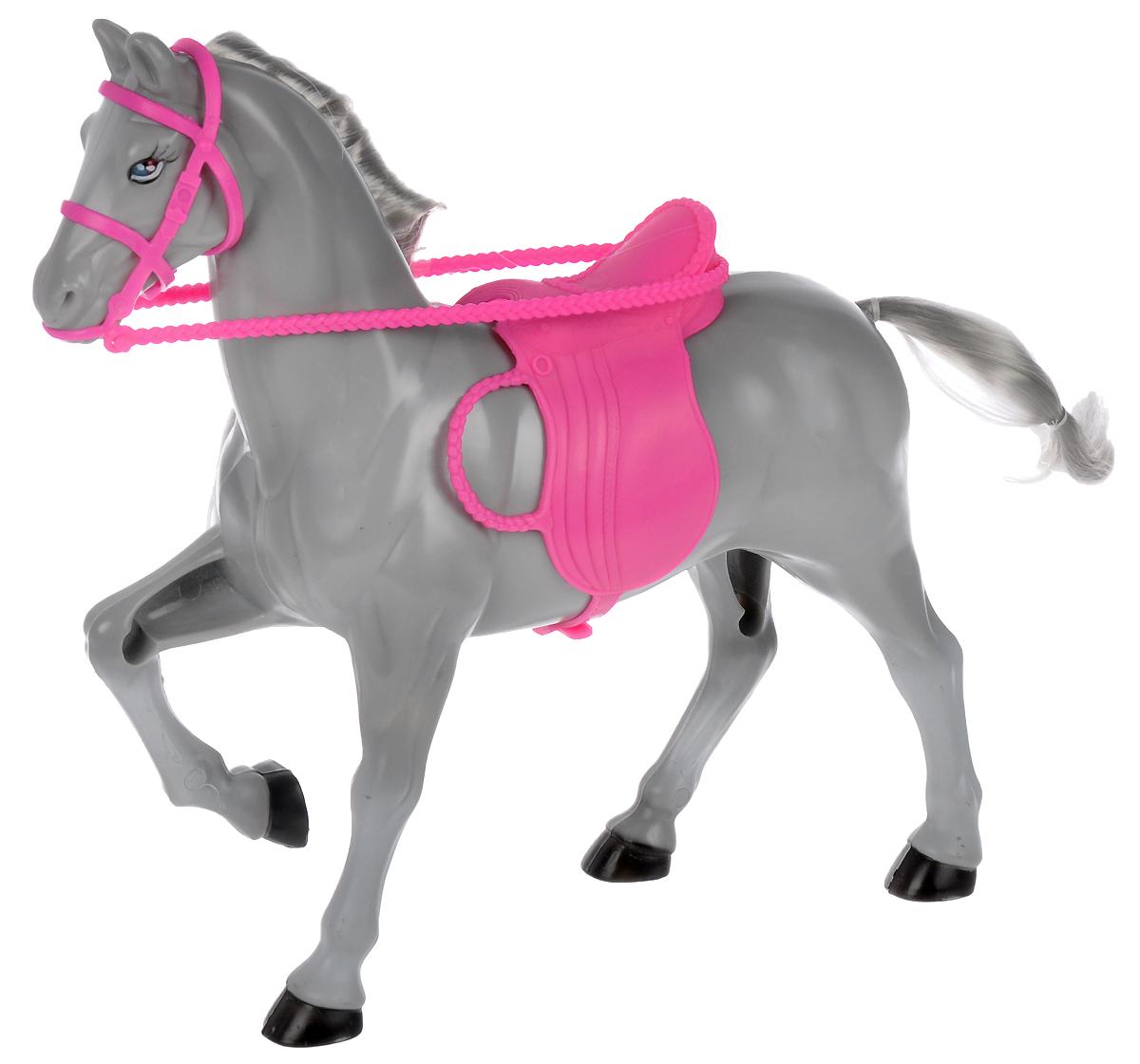 Gloria Лошадка для кукол цвет серый резиновая лошадка для прыганья