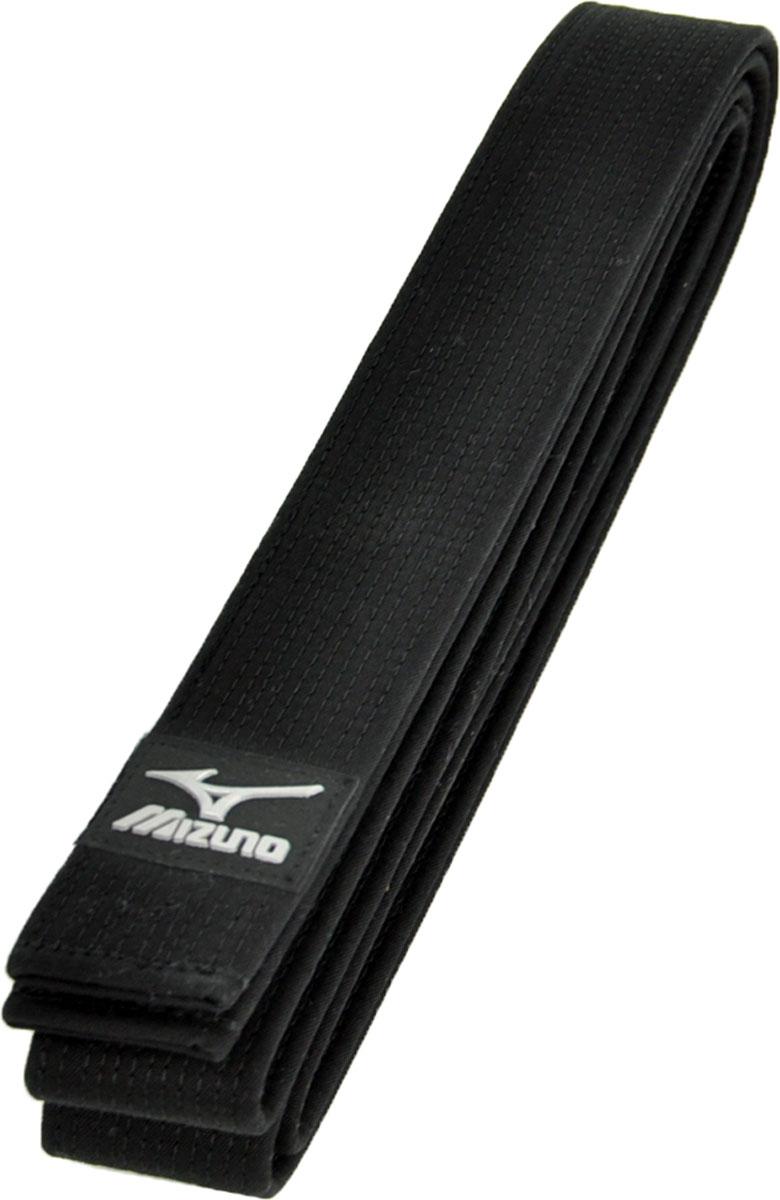 Пояс для единоборств Mizuno MRB OBI Black, цвет: черный. VJ129092. Длина 235 смVJ129092пояс для кимоно100% хлопокширина 45мм