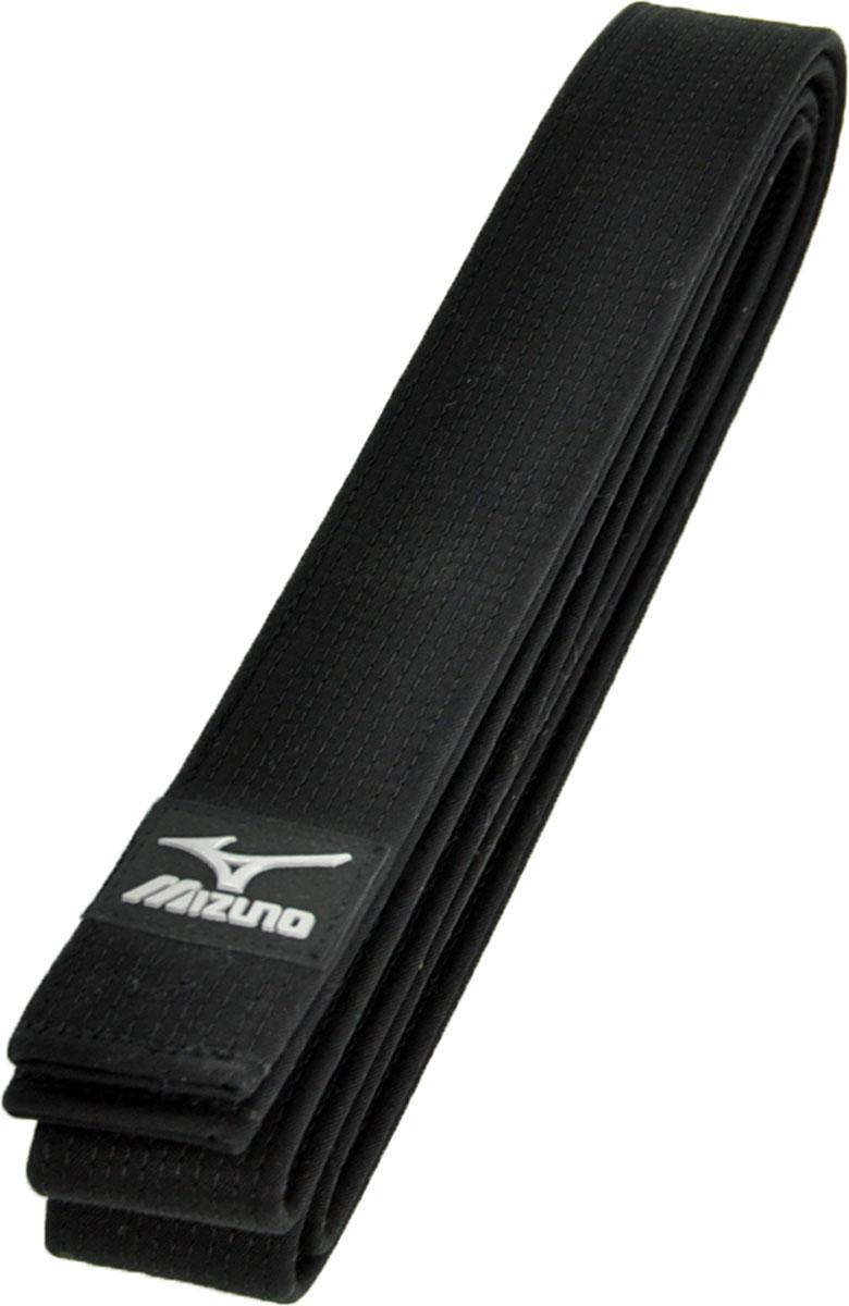 Пояс для единоборств Mizuno MRB OBI Black, цвет: черный. VJ129094. Длина 275 смVJ129094пояс для кимоно100% хлопокширина 45мм
