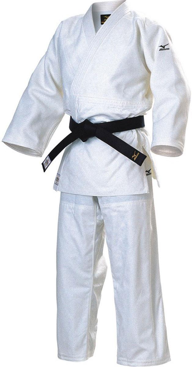 Кимоно для дзюдо Mizuno Hayato, цвет: белый. FY55001190. Размер 190