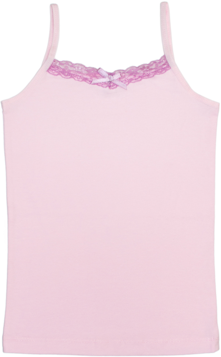 Майка для девочек Lets Go, цвет: светло-розовый. 2134. Размер 152/1582134