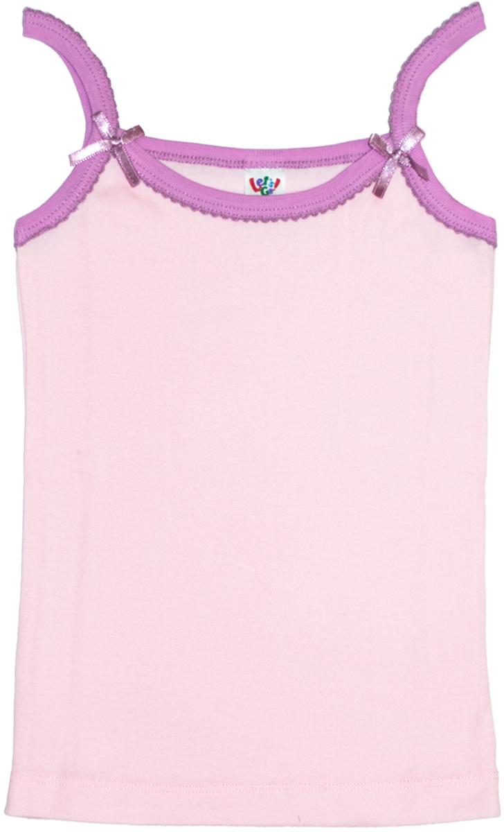 Майка для девочек Lets Go, цвет: светло-розовый. 2133. Размер 110/1162133
