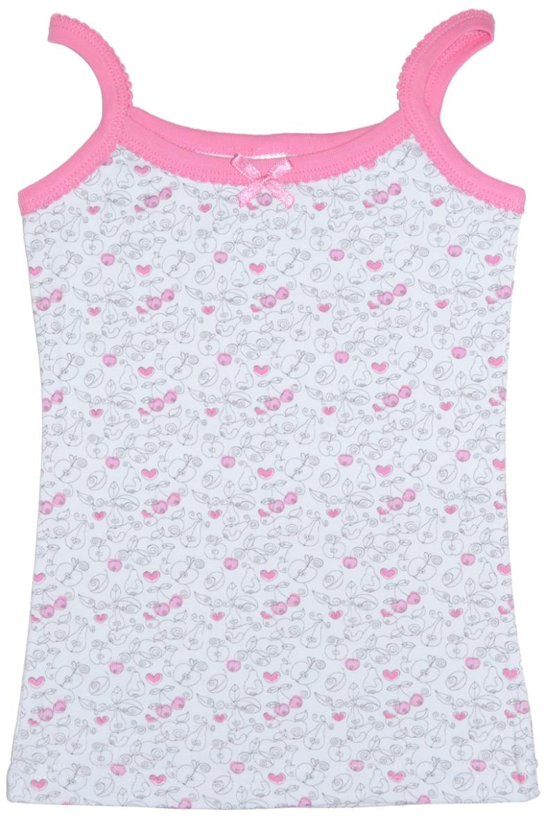 Майка для девочек Lets Go, цвет: розовый. 2115. Размер 1462115