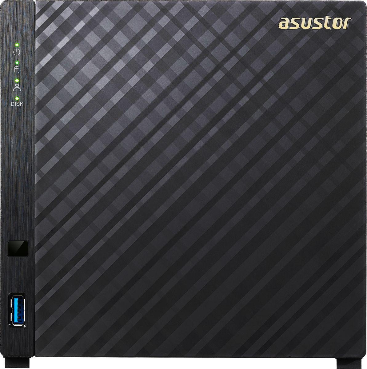 ASUSTOR AS3104T 40TB сетевое хранилище (90IX00P1-BW3S10)90IX00P1-BW3S10ASUSTOR AS3104T - производительный и экономичный NAS с поддержкой аппаратного шифрования и функцией воспроизведения 4K-видео.AS3104T является сетевым накопителем большой емкости, отличающимся привлекательной ценой. Пользователи могут установить до четырех 10-ТБ жестких дисков, получив хранилище на 40 ТБ. Больше нет нужды думать об ограничениях объема, коллекционируя фото или видео высокого разрешения! Кроме того, AS3104T поддерживает RAID-массивы уровней 5 и 6, что дает возможность обеспечить дополнительную защиту данных и минимизировать вероятность их потери в случае выхода жесткого диска из строя.Хранилище оснащено двухъядерными процессорами Intel Celeron и памятью с двухканальным режимом емкостью 2 ГБ. В конфигурациях RAID 1 скорость чтения/записи составляет более 112 МБ/с и 112 МБ/с.Встроенный блок аппаратного шифрования AES-NI имеет скорость чтения/записи 227.97 МБ/с и 71 МБ/с, обеспечивая отличную производительность и безопасность. Ваши данные полностью защищены с того момента, как вы сохраняете их в NAS устройстве.NAS от ASUSTOR предлагает вашему вниманию потрясающие цифровые развлечения по требованию. Встроенный интерфейс HDMI и разнообразные мультимедийные приложения позволяют работать с любимым мультимедийным контентом на NAS устройстве, подключив к нему ЖК/LED телевизор или усилитель. Более того, в App Central от ASUSTOR можно установить дополнительные приложения для сервера мультимедиа, такие как медиа-сервер UPnP и сервер iTunes, с помощью которых NAS сможет передавать мультимедийный контент на ваши компьютеры, телевизоры и мобильные устройства.Сдвигающаяся крышка и барашковые винты позволяют легко установить и настроить устройство в течение нескольких минут, не используя дополнительных инструментов.Модели AS31 поддерживают двухканальный режим памяти и воспроизводят видео в формате 4К с высоким качеством. Более того, модели AS31 отличаются высокой энергоэффективностью, производительн