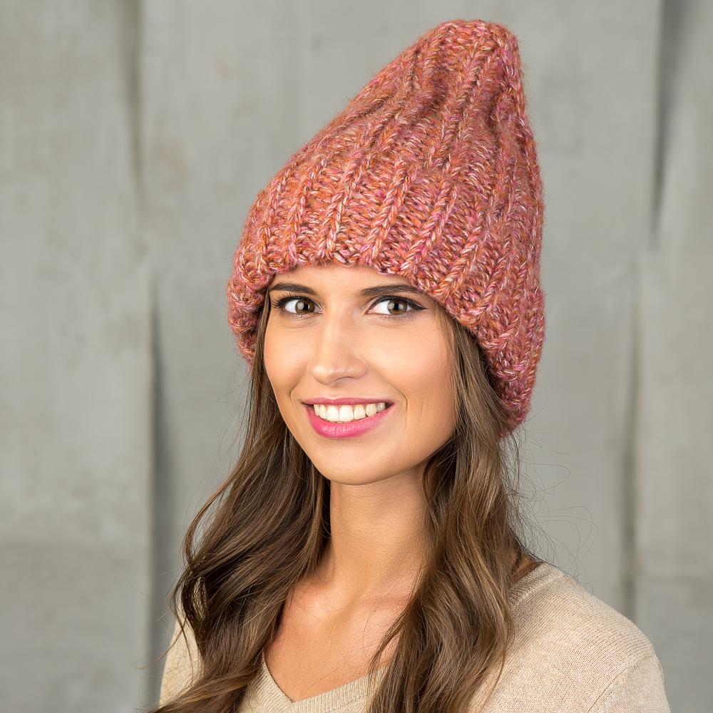 Шапка женская Stilla, цвет: розовый. SH-1713/fiksia. Размер 52/56SH-1713/fiksiaМягкая одинарнаяженская шапка Выполнена из меланжевой (двухцветной) полушерстяной нити