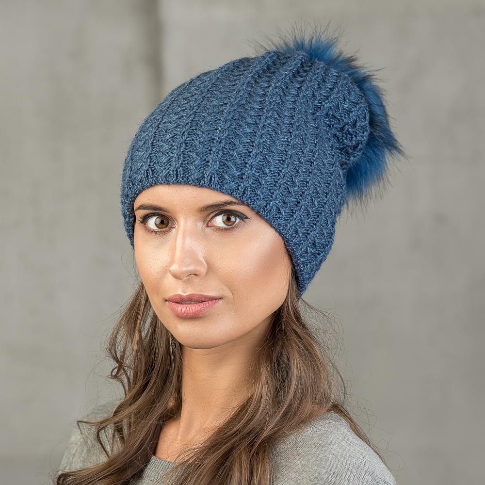 Шапка женская Stilla, цвет: синий. SH-1718/023. Размер 52/56 - Зимняя рыбалка