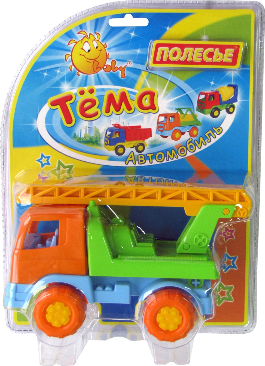 Полесье Пожарный автомобиль Тема №2 цвет оранжевый голубой зеленый розовый поросенок игрушки для маленьких детей ролевые игры мини модель украшения ролевые игры игрушки симпатичные животные пластик