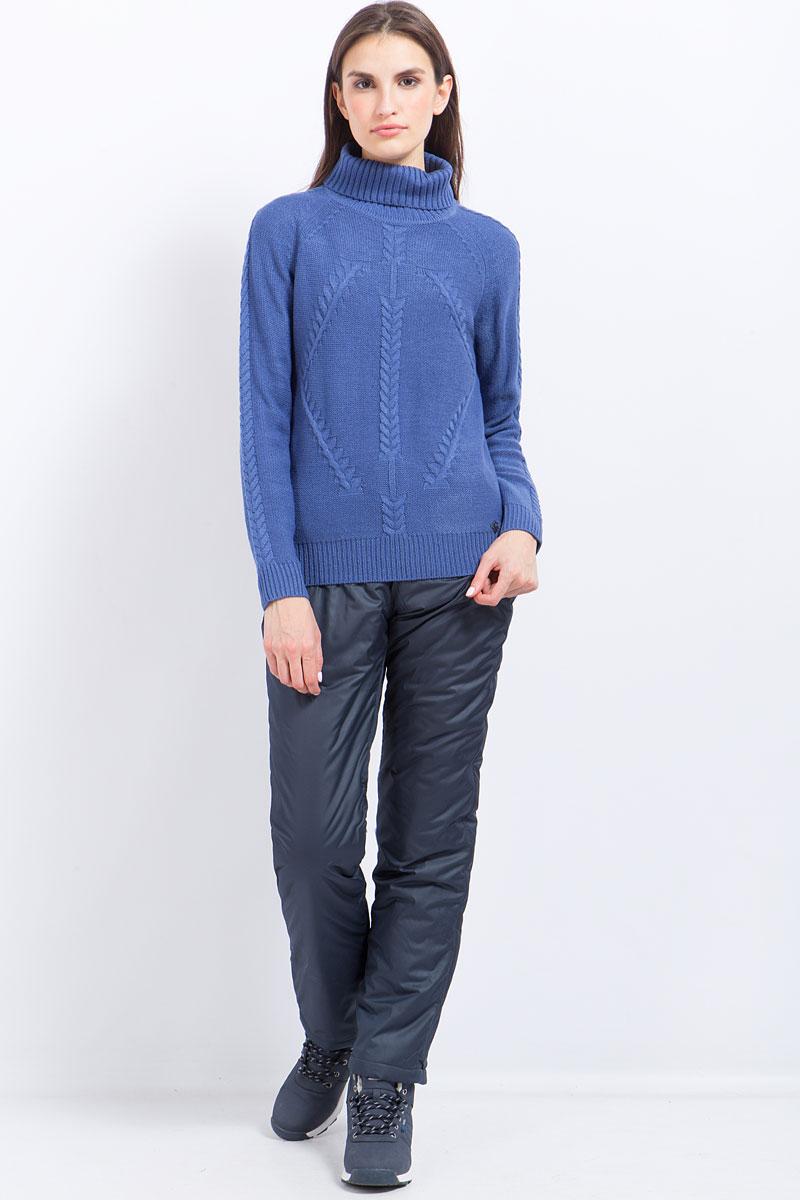 Брюки женские Finn Flare, цвет: темно-синий. W17-32002_101. Размер S (44)W17-32002_101
