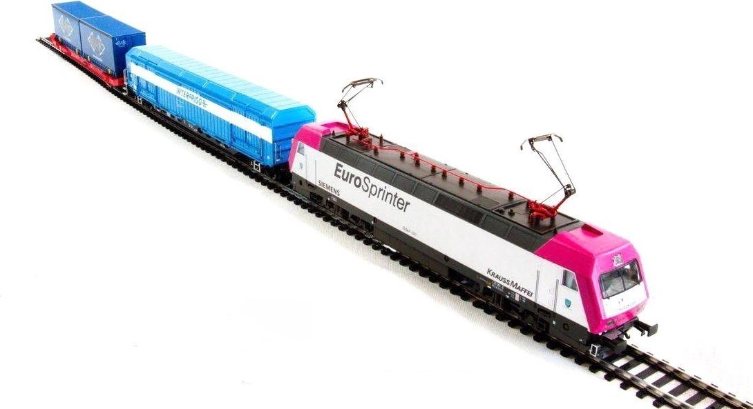 Mehano Prestige Электровоз Eurosprinter Magneta с вагонами - Железные дороги