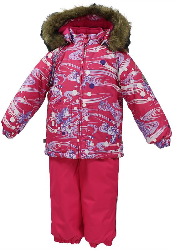 Комплект одежды детский Huppa Avery: куртка, полукомбинезон, цвет: фуксия. 41780030-71163. Размер 98 костюмы huppa комплект avery