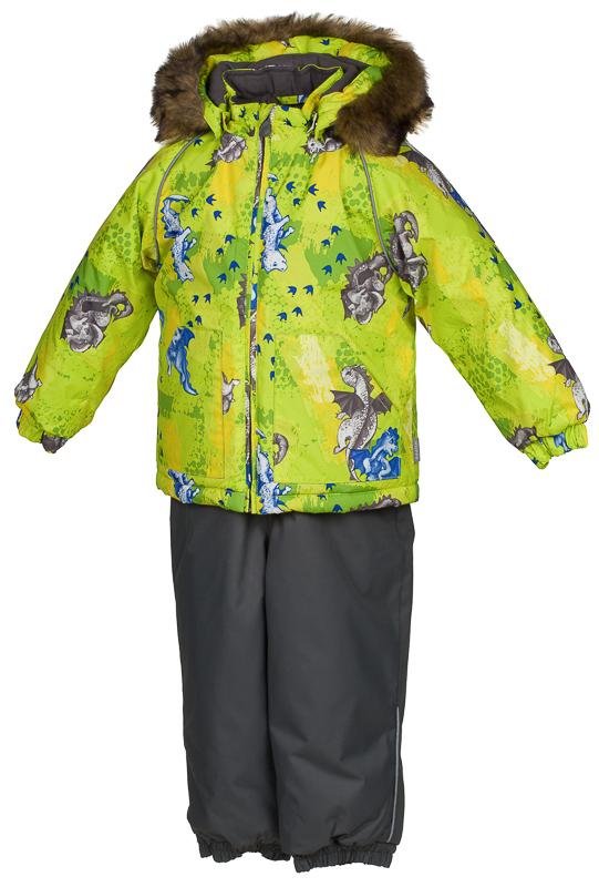 Комплект одежды детский Huppa Avery: куртка, полукомбинезон, цвет: лайм, серый. 41780030-72147. Размер 8641780030-72147Комплект одежды Huppa Avery состоит из куртки и полукомбинезона. Изделия выполнены из полиэстера с фланелевой подкладкой. Куртка оснащена ветрозащитной планкой по всей длине молнии с защитой подбородка и безопасным съемным капюшоном с мехом. Манжеты рукавов и брючтны дополнены резинками для защиты от поддувания. Также на брюках предусмотрены штрипки. Полукомбинезон очень практичен: хорошо закрывает грудку и спинку ребенка. Вечерние прогулки в этом костюме будут не только приятными, но и безопасными благодаря светоотражающим элементам на куртке и полукомбинезоне.