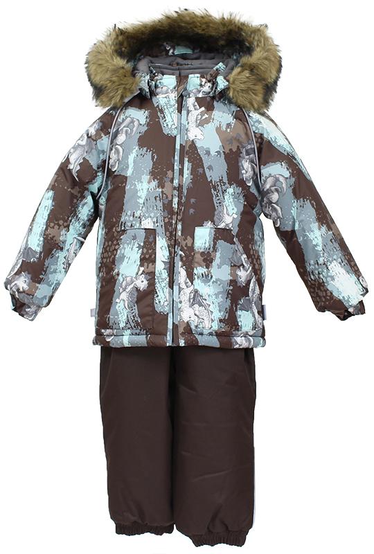 Комплект верхней одежды детский Huppa, цвет: коричневый. 41780030-72181. Размер 9841780030-72181Комплект для малышей AVERY.Водо и воздухонепроницаемость 5 000 куртка / 10 000 брюки. Утеплитель 300 гр куртка/160 гр брюки. Подкладка фланель 100% хлопок.Отстегивающийся капюшон с мехом.Манжеты рукавов на резинке. Манжеты брюк на резинке.Добавлены петли для ступней.Резиновые подтяжки.Имеются светоотражательные элементы.